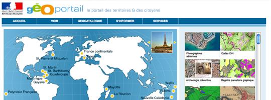 Geoportail :  le service de carto franco-français