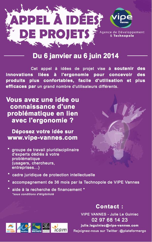 Appel à Idées de projets VIPE