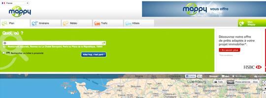 Le service de cartographie Mappy